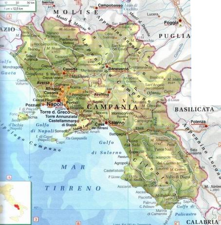 Cartina Geografica Politica Campania.Cartina Campania Politica