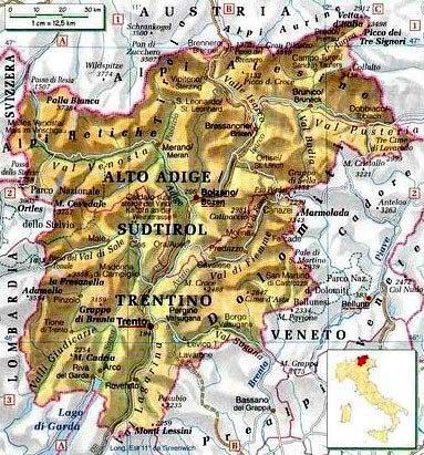 Trentino Alto Adige Cartina Stradale.Trentino Alto Adige Centro Politiche E Bioeconomia