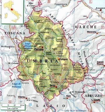 Dettagliata Cartina Geografica Umbria.Umbria Centro Politiche E Bioeconomia